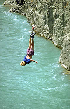 Bungy jumping at Hanmer Springs.